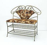 Кованый диван со спинкой 01.