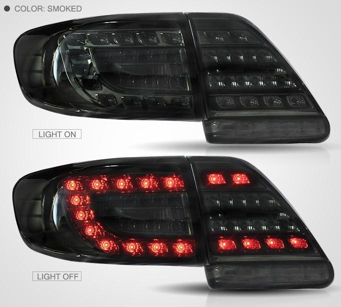 Диодные фонари тюнинг оптика Toyota Corolla E150 тонированные Led (11-13)