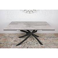 Lincoln (Линкольн) стол раскладной 160-240 см керамика светло-серый глянец, фото 1