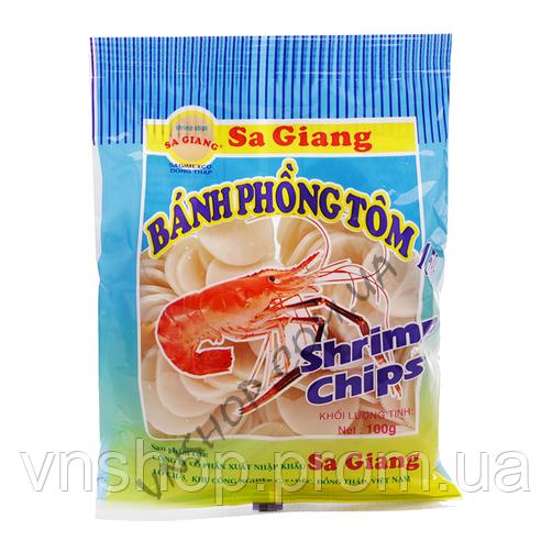 Рисовые чипсы с креветкой (100г) (острые)