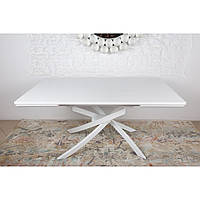 Lincoln (Линкольн) стол раскладной 160-240 см шпон белый, фото 1