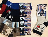 Носки детские зимние ангора, шерсть мальчик ФЕННА размер 30-35 ассорти