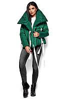 Короткая зеленая куртка женская, фото 1