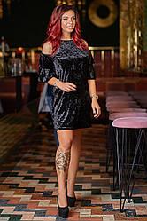 Коктейльне оксамитове плаття 3889
