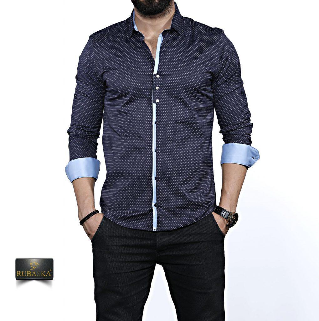 e0103b99300 Стильная мужская рубашка с длинным рукавом-трансформером