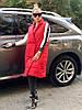 """Удлиненный женский стеганый жилет """"Canada"""" с карманами (большие размеры), фото 2"""