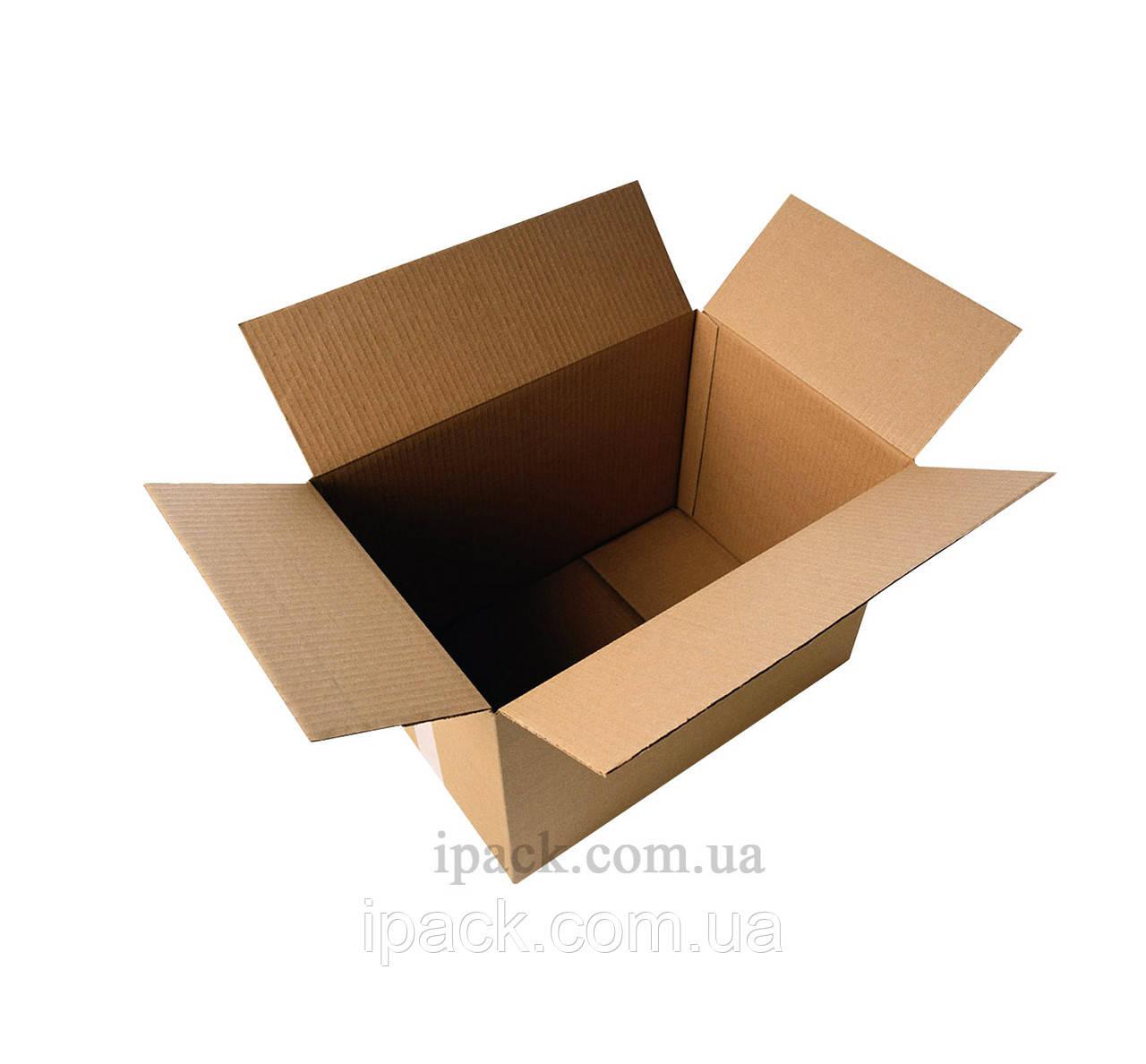 Гофроящик 390*210*220 мм, бурый, четырехклапанный картонный короб