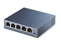 Коммутатор TP-Link TL-SG105 5 портов Ethernet 10/100/1000 Мбит/сек, стальной корпус