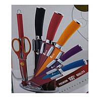 Набір ножів Swiss & Boch кольорові з підставкою (8 предметів)