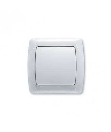 Выключатель 1-клавишный 10А белый Стандарт встроенный