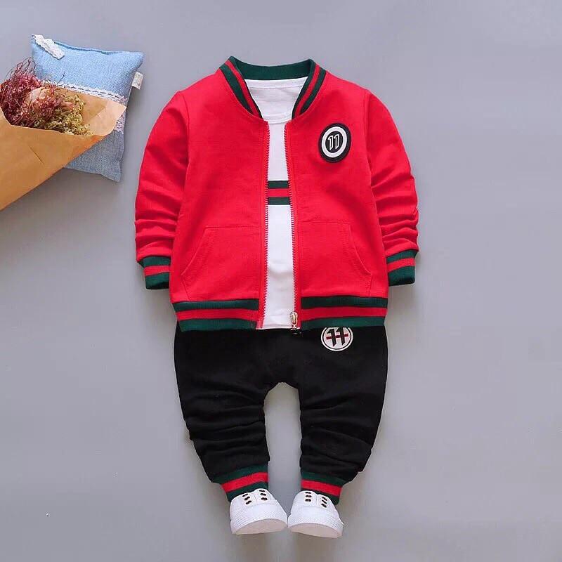 Стильный костюм тройка на мальчика весна-осень Gucci красный 1,4 года