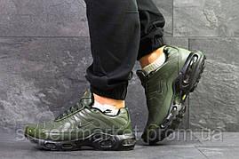 Кроссовки темно-зеленые  зима , код6607, фото 2