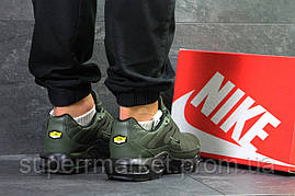 Кроссовки темно-зеленые  зима , код6607, фото 3