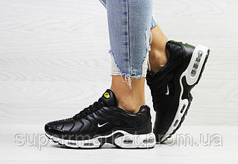 Кроссовки Nike Air Max Tn черные с белым (зима). Код 6612, фото 2