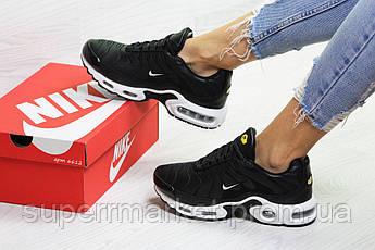 Кроссовки Nike Air Max Tn черные с белым (зима). Код 6612, фото 3