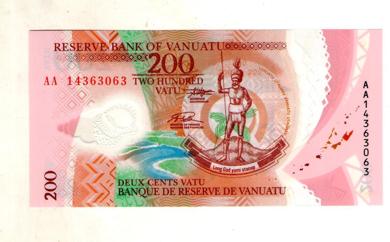 Вануату 200 вату 2014 пластик стан UNC №32