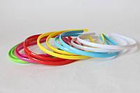 Набор обручей для волос (ободоков) 12 шт/уп. пластмассовых 8 мм 6 цветов, фото 1