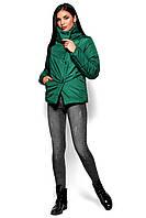 Зеленая стеганая куртка на силиконе, фото 1