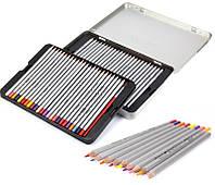 Кольорові олівці Marco Raffine в металевому пеналі 50 кольорів