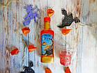 Белая красная магическая бутылка Helloween. Подарок, декор, атрибут, украшение на Хэллоуин, фото 5