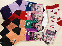 Носки детские зимние ангора, шерсть с махрой девочка ЗИМА размер 19-26 ассорти