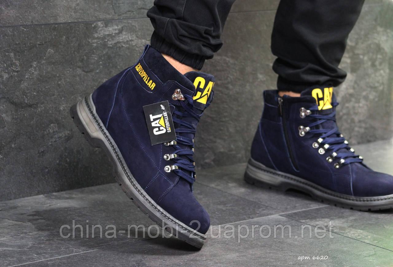 Ботинки Caterpillar, синие  зима , код6620