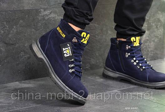 Ботинки Caterpillar, синие  зима , код6620, фото 2