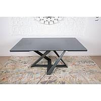Fleetwood (Флитвуд) стол раскладной 160-240 см шпон керамика мокрый асфальт, фото 1