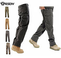 Тактические утепленные брюки штаны ESDY softshell софтшел зимние