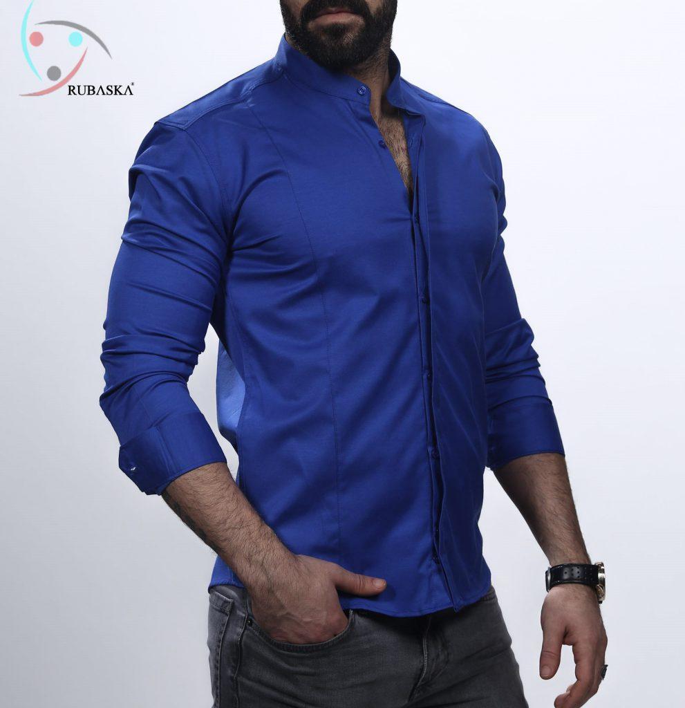 e0f8534a9bd81f2 Синяя мужская рубашка с длинным рукавом из Турции, новинка 2019 года ...