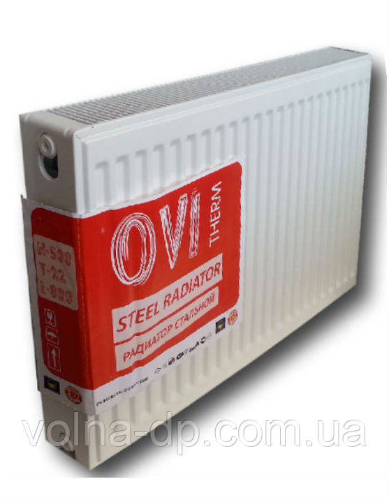 Радиатор стальной  OVI Therm 22 тип  500*800(бок.подкл)