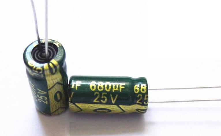Конденсатор 680uf 25v 680Мкф 25в 8*16 105C, фото 2