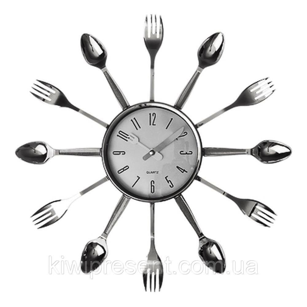 Настенные часы на кухню «Вилки-ложки» (большие)
