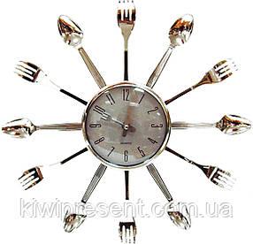 Настенные часы на кухню «Вилки-ложки» (большие), фото 2