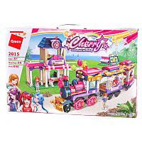 Конструктор Brick 2015розовая серія, поїзд, вокзал -690 дет