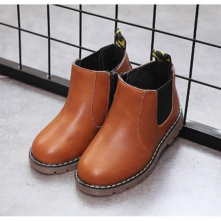 Ботинки детские осенние PU-кожа коричневые