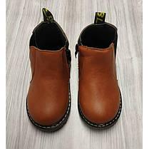Ботинки детские осенние PU-кожа коричневые, фото 2