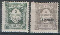 Азорские Острова - доплатные марки португальских колоний