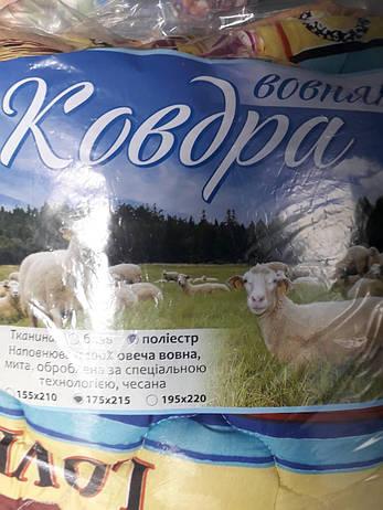 Одеяло АРДА овчина в поликоттоне евро, фото 2