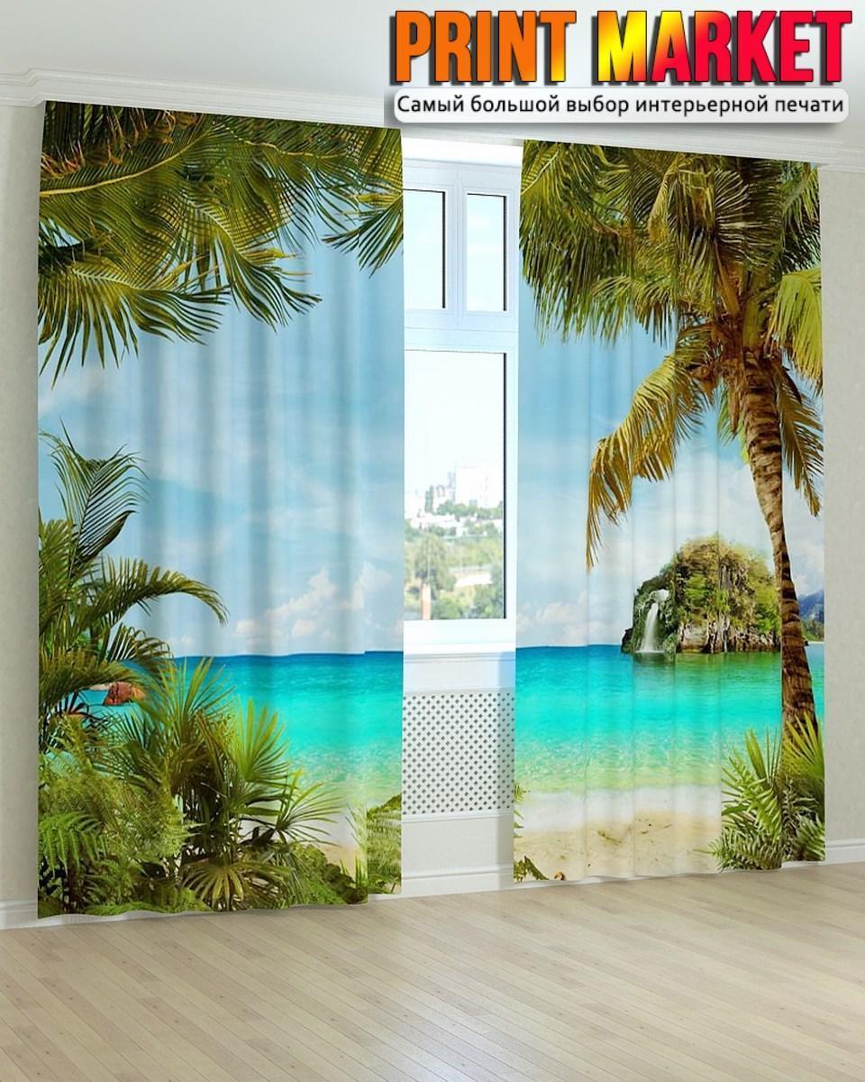 Фотошторы фрески бирюзовый океан