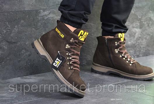 Ботинки Caterpillar коричневые (зима). Код 6621, фото 2
