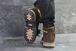 Ботинки Caterpillar коричневые (зима). Код 6621, фото 3