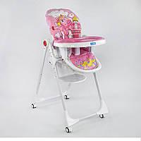 """Детский стульчик для кормления JOY К-73480 """"ПОНИ"""" розовый, фото 1"""