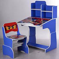 """Парта-стіл дитячий регульована """"Нинзяга"""" W 2071-52-2, синя"""