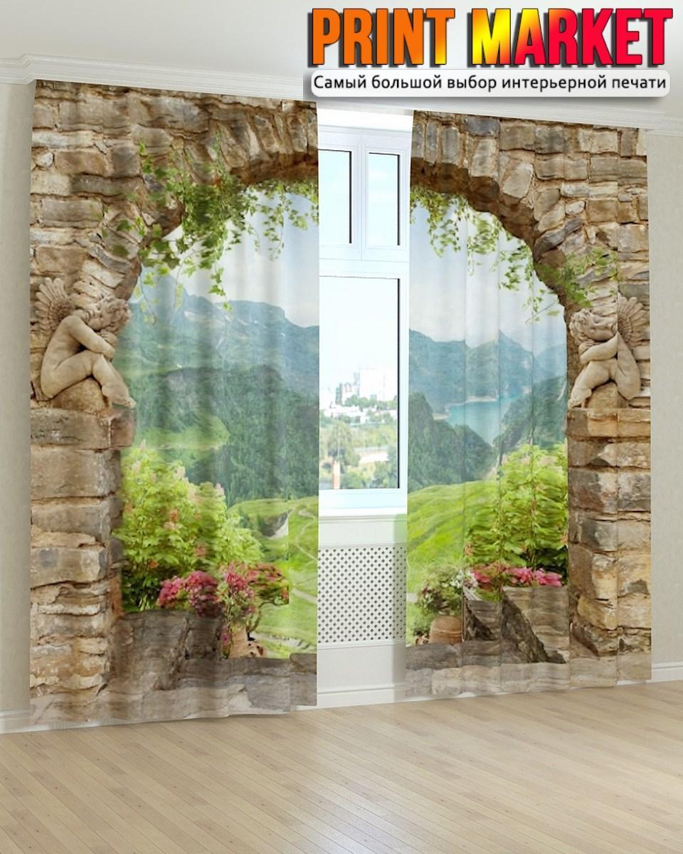 Фотошторы фрески арка в горах