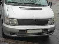 "Зимняя накладка Mercedes Vito W638 1996-2003 на решетку радиатора матовая ""FLY"" , фото 1"