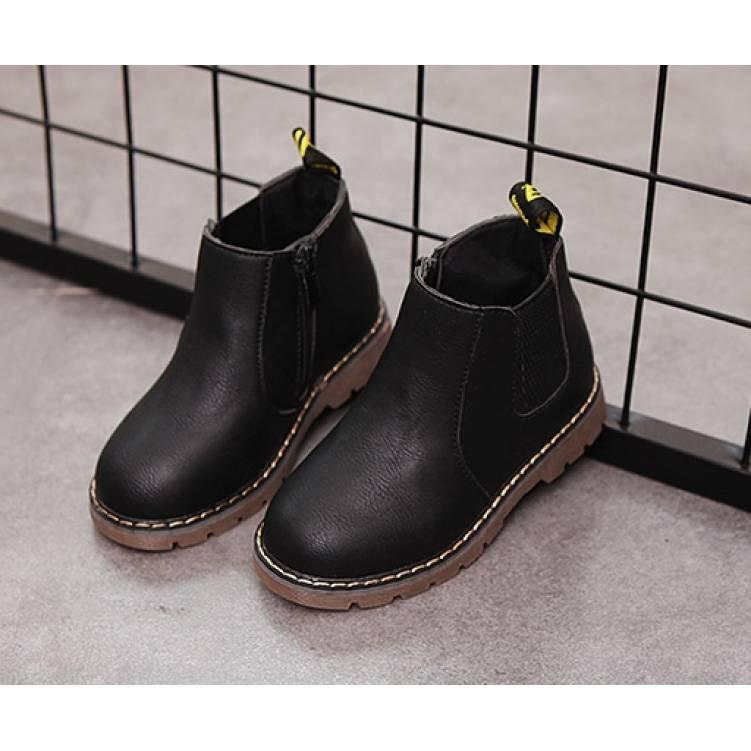 Ботинки детские осенние PU-кожа черные
