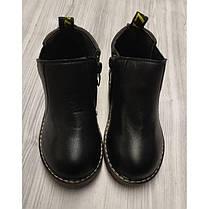 Ботинки детские осенние PU-кожа черные, фото 2