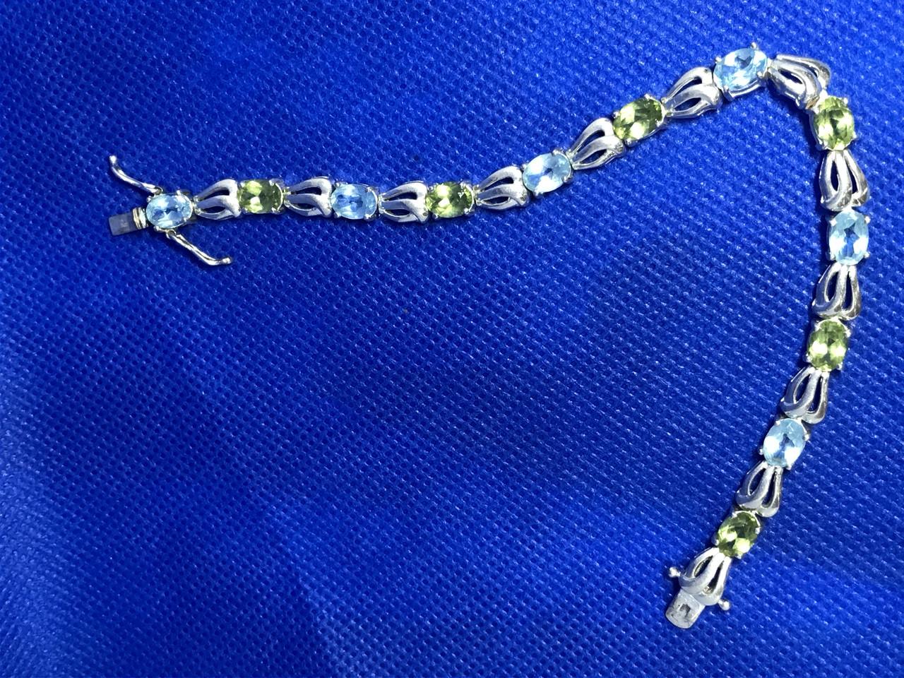 Браслет серебро 925 пробы с натуральными камнями