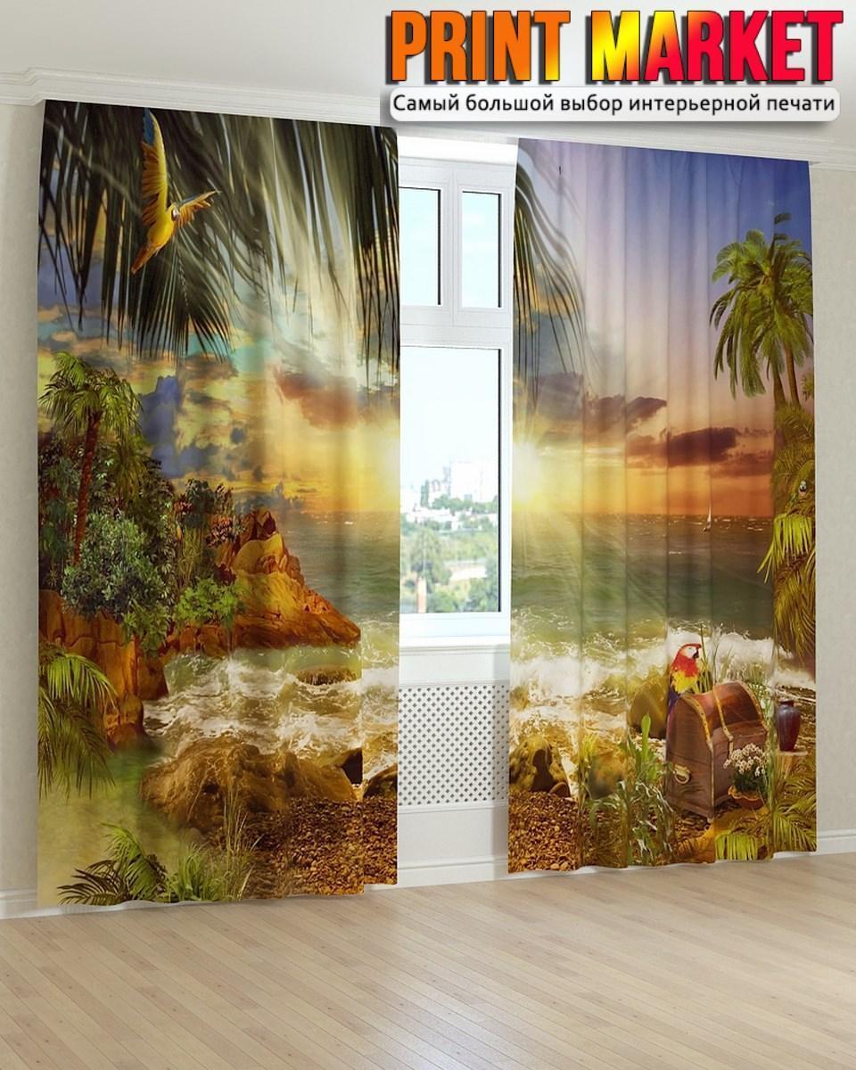 Фотошторы фрески в детскую остров сокровищ